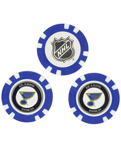 Team Golf St. Louis Blues 3-Pack Poker Chip Golf Markers