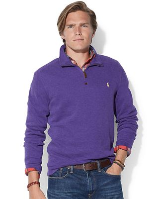 Polo Ralph Lauren French-Rib Half-Zip Pullover Sweater - Sweaters ...
