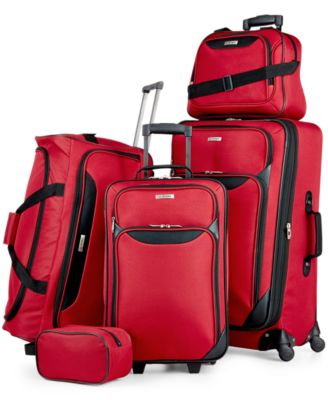 Tag Springfield III 5 Piece Luggage Set - Red/Blue