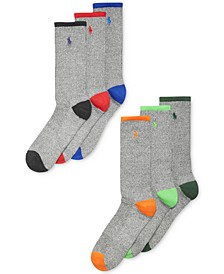 Men's Athletic Celebrity Crew Socks 6-Pack