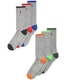 Polo Ralph Lauren Men's Athletic Celebrity Crew Socks 6-Pack