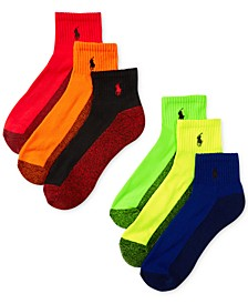Men's Athletic Celebrity Quarter Socks 6-Pack