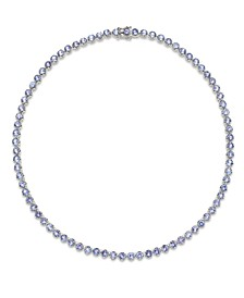 Tanzanite Collar Necklace in Sterling Silver (20 ct. t.w.)