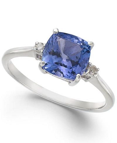 14k White Gold Ring Tanzanite 1 5 8 Ct T W And