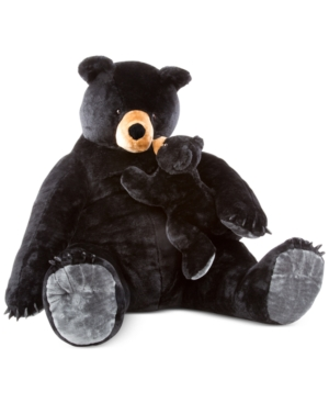 Melissa and Doug Kids' Black Bear & Cub Plush Set