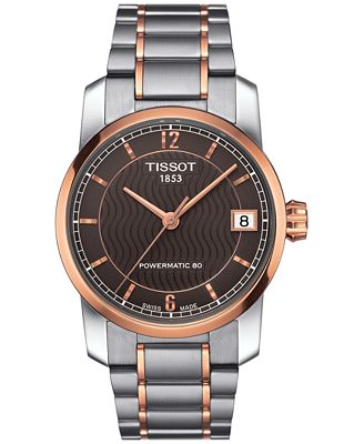 tissot s swiss automatic tradition two tone titanium