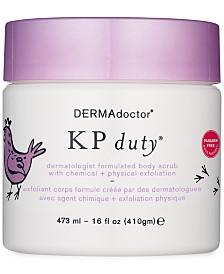 DERMAdoctor KP Duty Dermatologist Formulated Body Scrub With Chemical & Physical Exfoliation, 16-oz.