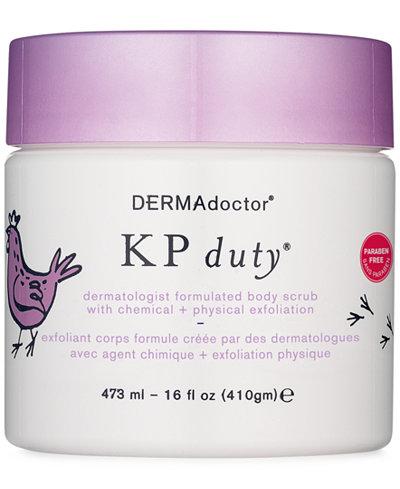 DERMAdoctor KP Duty Dermatologist Formulated Body Scrub with Chemical + Physical Exfoliation, 16oz.