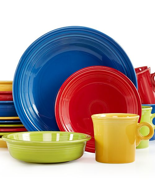 Mixed Bright Colors 16 Piece Set Service For 4 Created Macy S