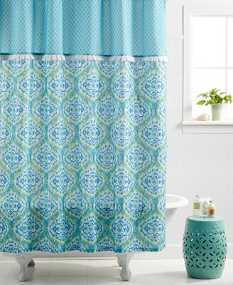 dena home tangier shower curtain - bathroom accessories - bed