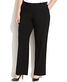 Calvin Klein Petite Plus Size Madison Straight-Leg Pants
