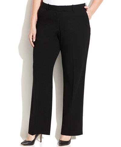 Calvin Klein Petite Plus Size Madison Straight-Leg Pants