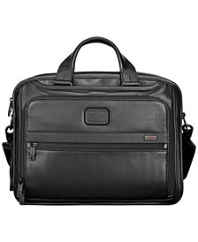 Tumi Alpha 2 Leather Organizer Laptop Briefcase