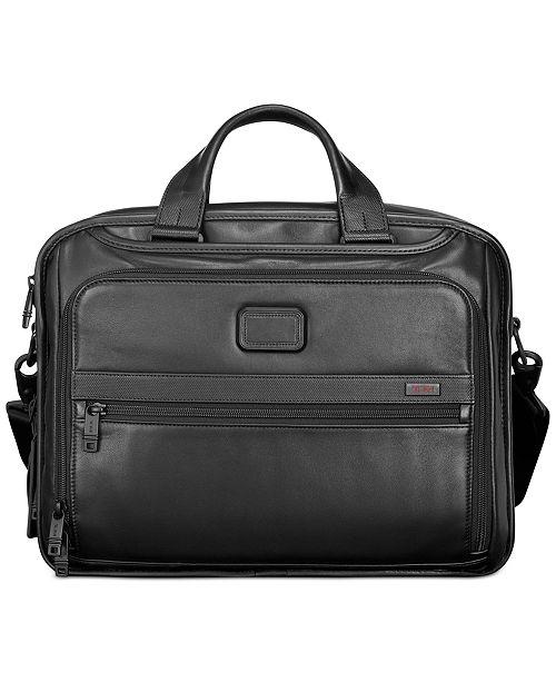 ce5aa4695b03 Tumi Alpha 2 Leather Organizer Laptop Briefcase   Reviews ...