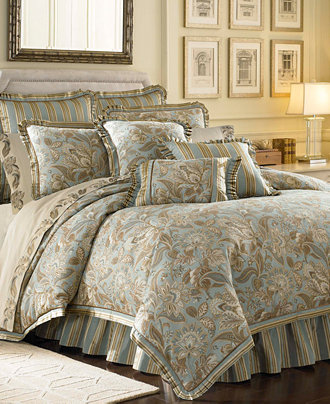 J Queen New York Barcelona Aqua Bedding Collection