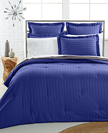 CLOSEOUT! Charter Club Damask 500 Thread Count Pima Cotton Reversible Comforter, Created for Macy's