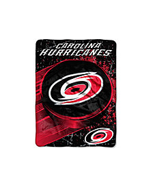 Northwest Company Carolina Hurricanes Micro Raschel Ice Dash Throw Blanket
