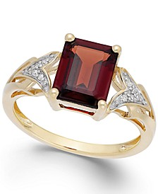 Garnet (2-1/2 ct. t.w.) and Diamond Accent Ring in 14k Gold