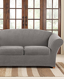 Sure Fit Stretch Pique 2 Cushion Loveseat Slipcover