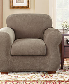 Sure Fit Stretch Pique 2-Piece Chair Slipcover
