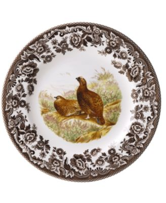 Woodland by Red Grouse Dinner Plate