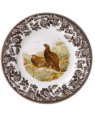 Woodland by Spode Red Grouse Salad Plate