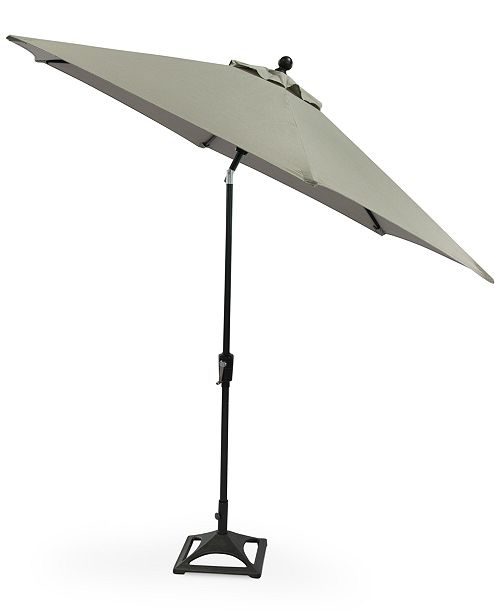Furniture Marlough II Outdoor 9' Umbrella with Base, Created for Macy's