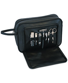 Royce Leather Toiletry Combo Grooming Set