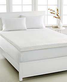 CLOSEOUT! Dream Science 3'' Memory Foam Mattress Toppers, VentTech Ventilated Foam, by Martha Stewart Collection, Created for Macy's