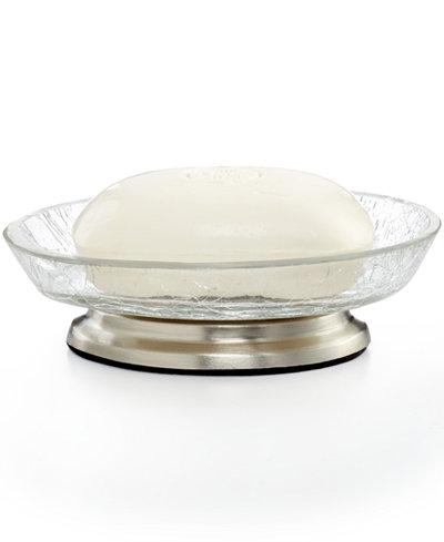 Paradigm bath accessories heirloom crackle soap dish for Crackle bathroom accessories