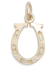 Polished Horseshoe Charm in 14k Gold