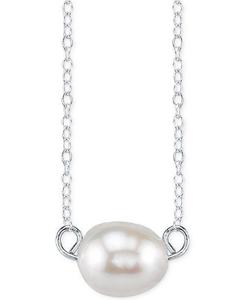 Unwritten cultured freshwater pearl pendant necklace in sterling unwritten cultured freshwater pearl pendant necklace in sterling silver 8mm necklaces jewelry watches macys aloadofball Gallery