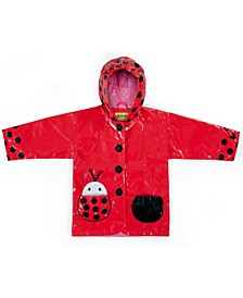 Little Girls Ladybug Raincoat