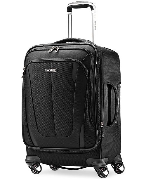 """Samsonite CLOSEOUT! 60% OFF Silhouette Sphere 2 21"""" Carry On Spinner Suitcase, Available in Ruby Red, Created for Macy's"""