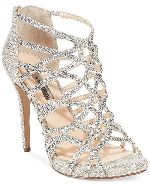 INC International Concepts INC Women's Sharee High Heel Rhinestone Evening Sandals, Created for Macy's