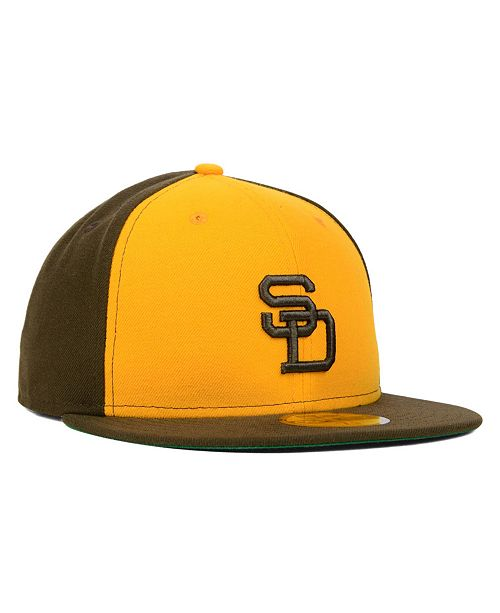 New Era San Diego Padres MLB Cooperstown 59FIFTY Cap - Sports Fan ... e696f4f2b9a9