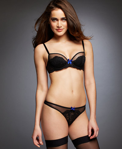 9ea601f638 L Agent by Agent Provocateur Felicitia Padded Balcony Bra and Thong