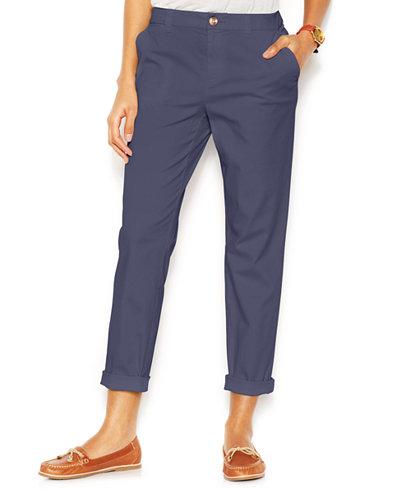 Maison Jules Lou Lou Cropped Straight-Leg Pants - Pants - Women ...