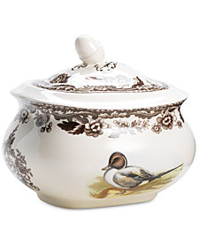 Woodland by Spode Snipe/Pinktail Covered Sugar