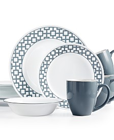 Corelle Urban Grid 16-Pc. Set, Service for 4