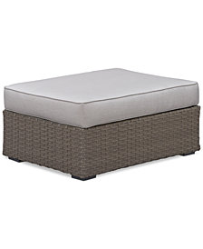 CLOSEOUT! South Harbor Outdoor Ottoman, Created for Macy's
