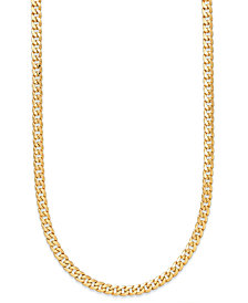 "22"" Cuban Link Chain Necklace 7mm in 14k Gold"