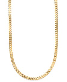 "22"" Cuban Link Chain Necklace (7mm) in 14k Gold"