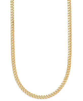 "22"" Cuban Link Chain Necklace 7mm in 14k Gold Necklaces"