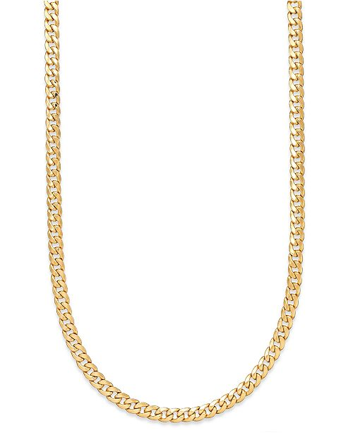Cuban Link Chain For Sale >> Macy S 22 Cuban Link Chain Necklace 7mm In 14k Gold Reviews