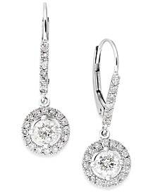 Diamond Dangle Drop Earrings in 14k White Gold (1 ct. t.w.)