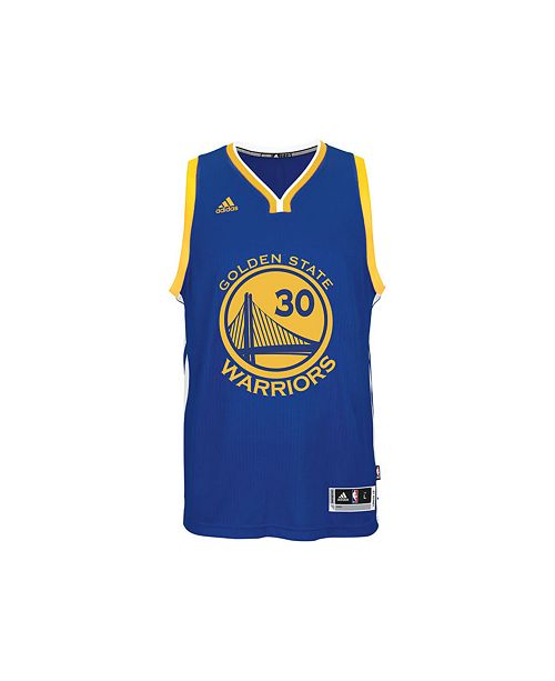 big sale ff8c0 08ba9 adidas Kids' Stephen Curry Golden State Warriors Swingman ...