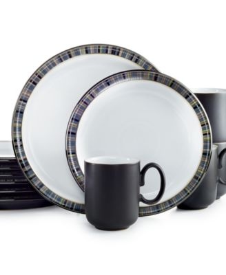 main image  sc 1 st  Macy\u0027s & Denby Jet Stripes 12-Pc. Set Service for 4 - Dinnerware - Dining ...
