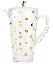 kate spade new york Gold Dots Acrylic Covered Pitcher