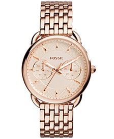 Women's Tailor Rose Gold-Tone Stainless Steel Bracelet Watch 35mm